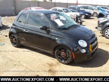 Used 2012 Fiat 500 Pop Hatchback 2 Door Car For Sale At Auctionexport