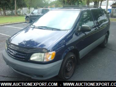 used 2003 toyota sienna ce car for sale at auctionexport www auctionexportblog com