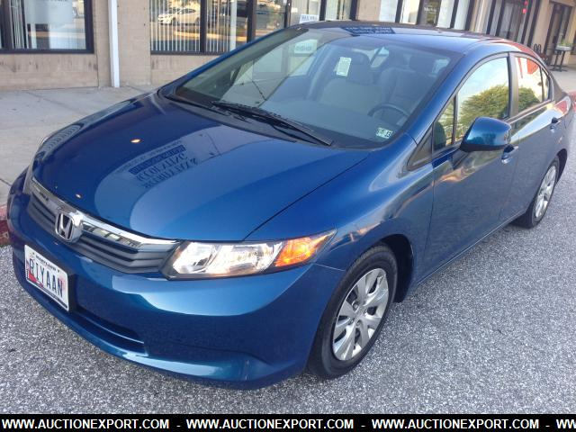 used 2012 honda civic lx at sedan 4 doors car for sale at auctionexport. Black Bedroom Furniture Sets. Home Design Ideas