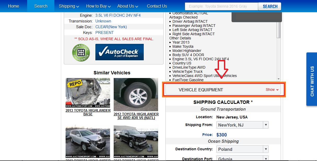 Auction Export