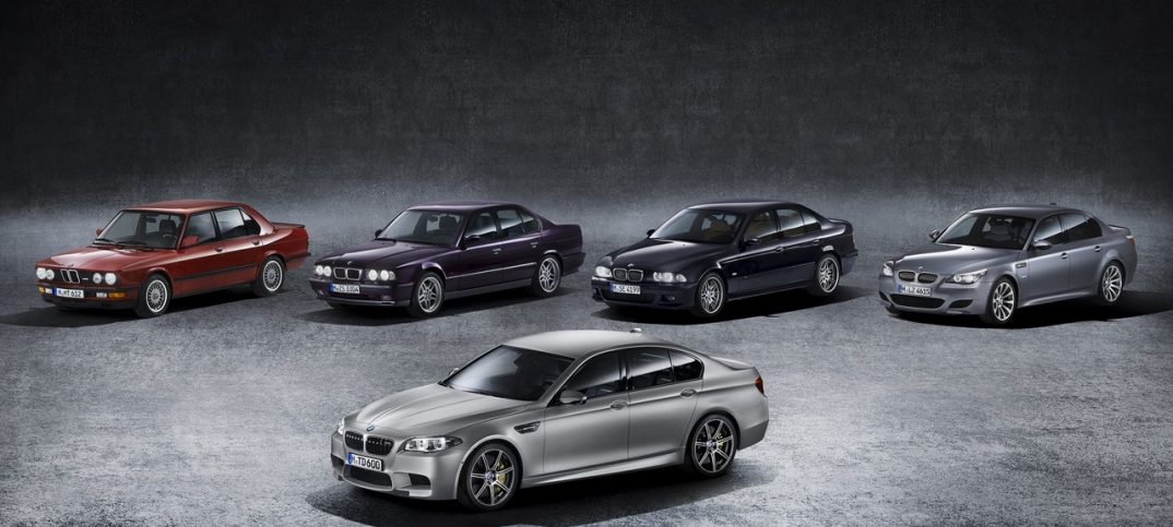 This is how the BMW M5 has evolved over six generations
