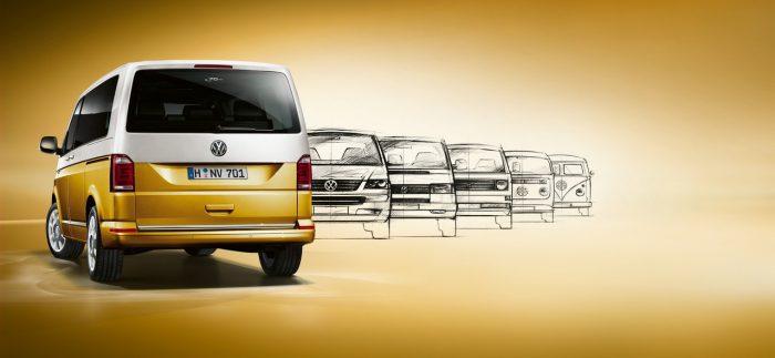 Volkswagen Multivan Bulli 70th anniversary: the historic van
