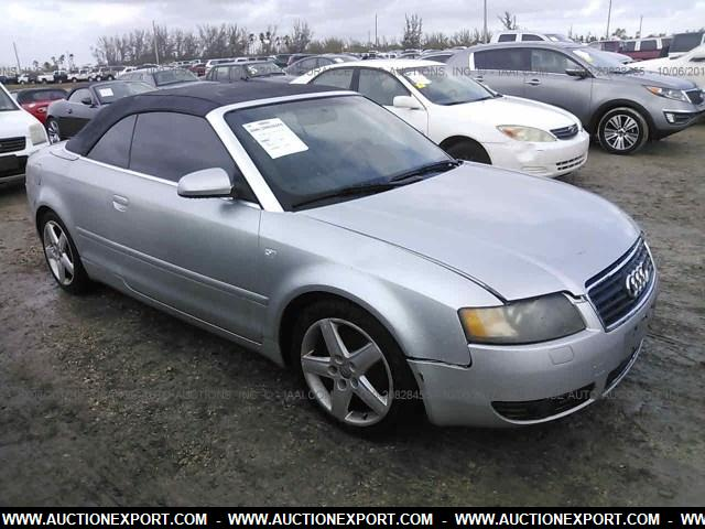 used 2004 audi a4 1 8t cabriolet car for sale at auctionexport. Black Bedroom Furniture Sets. Home Design Ideas