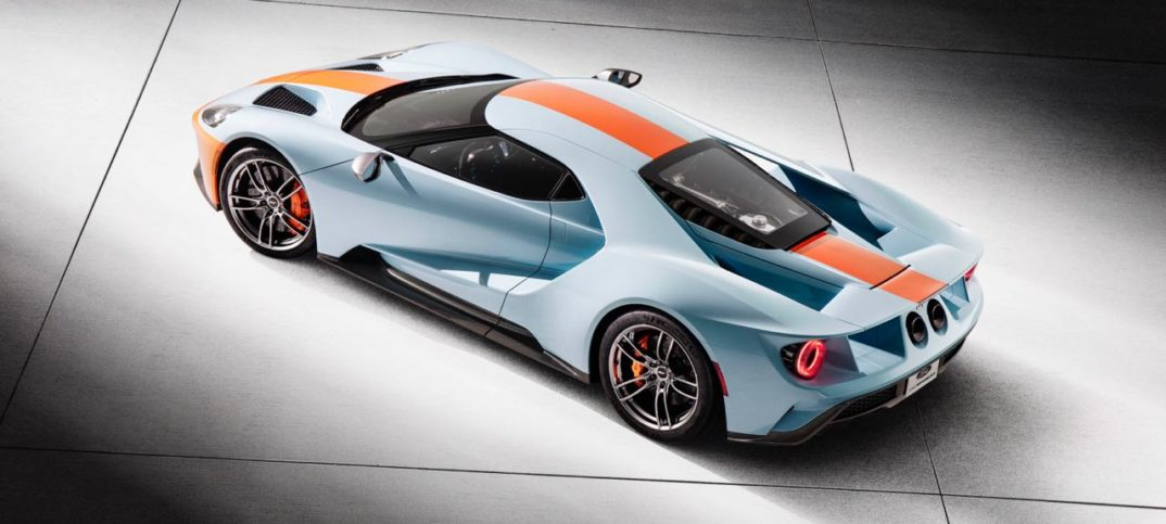 Ford Gt Heritage Edition With The Gulf Oil Colors Of The Two Time Champion